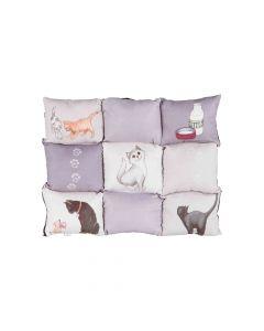 Trixie jastuk za mačke Patchwork sivi 45x55 cm