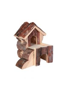 Trixie drvena kućica za glodavce Bjork za hrčka 15x15x16 cm