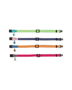 Trixie ogrlica za mačke podesiva sa zvoncem, razne boje