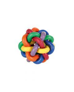 Trixie igračka za pse Pletena šarena lopta 7 cm
