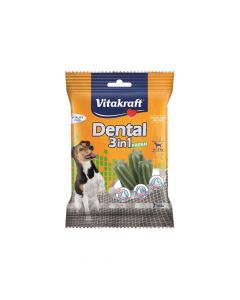 Vitakraft poslastica za pse Dental fresh 3u1 S, 120 g